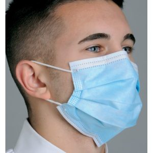 Diffuser Anti Fog Dual Fit Ear Loop Face Mask Pleated