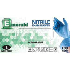 Nitrile Exam Powder Free Gloves Emerald